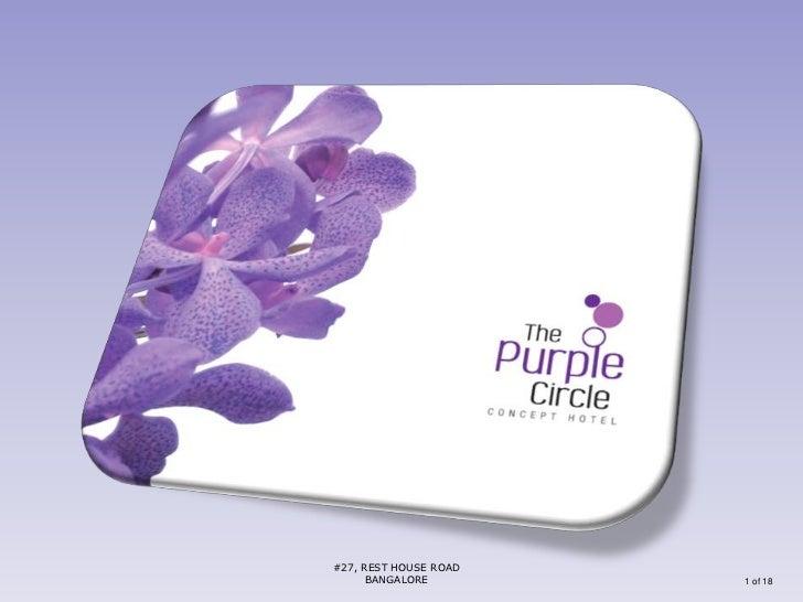 The Hotel Purple Circle presentation