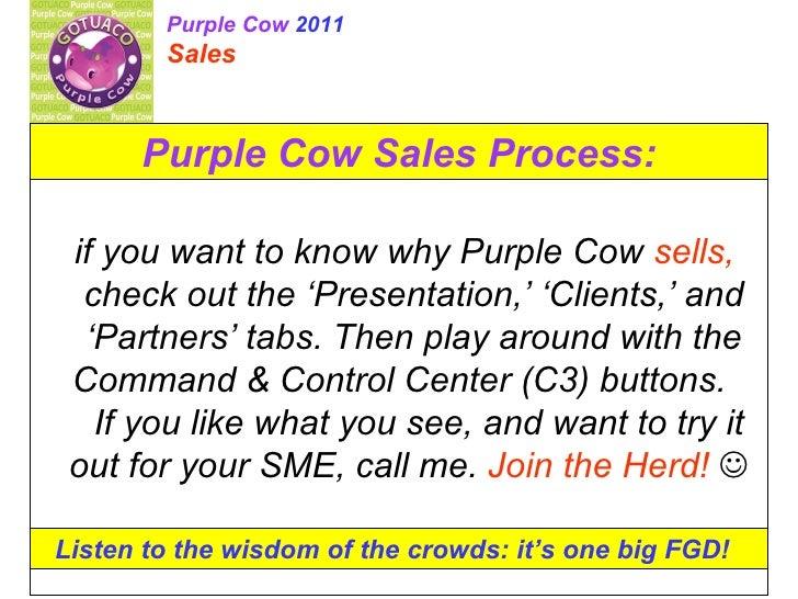 Purple cow 2011 (sales)