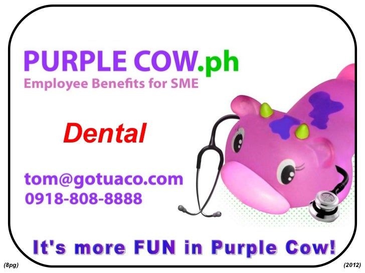 It's more FUN in Purple Cow! Dental (2012) (8pg)