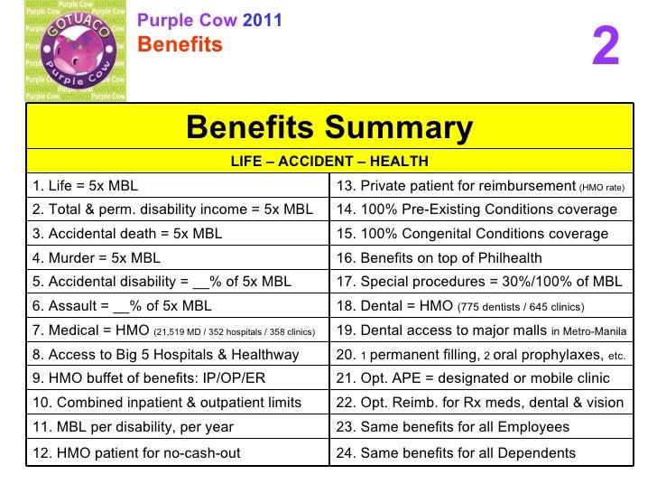 purple cow employee benefits 2011 benefits. Black Bedroom Furniture Sets. Home Design Ideas