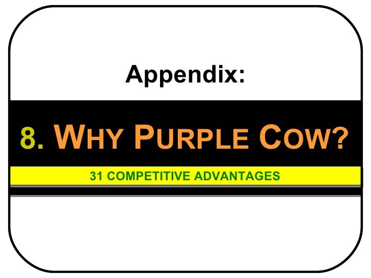 Purple cow employee benefits   2011 - why purplecow