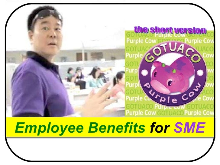 Purple cow employee benefits   2011 (the short version)