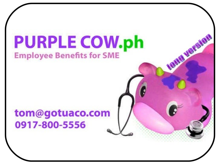 Purple cow employee benefits for sme   2011 (long version)
