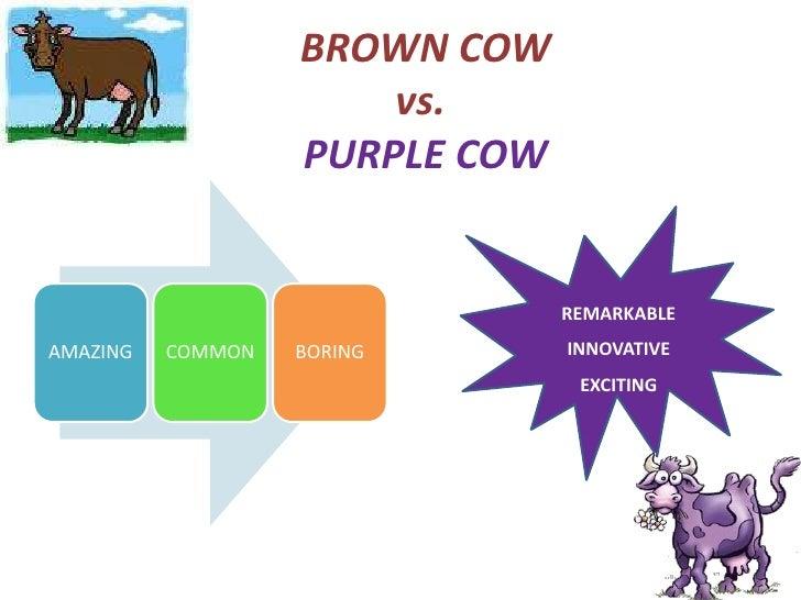 Purple Cow Brown Cow Vs.purple Cow