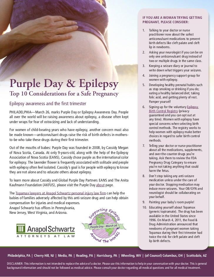 Purple Day Press Release