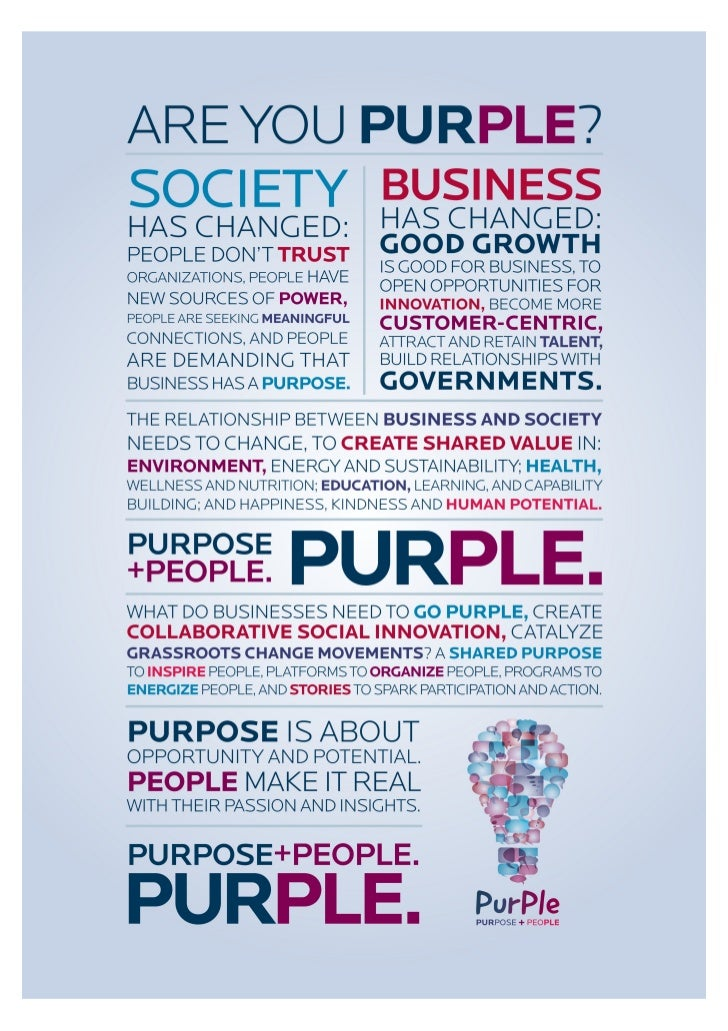 PurPle (Purpose + People) Manifesto Poster
