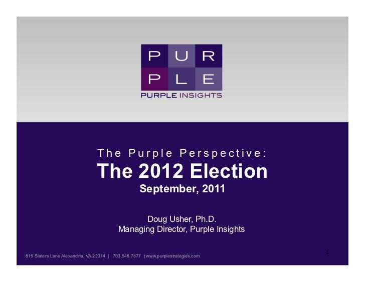 The Purple Perspective:                                The 2012 Election                                                  ...