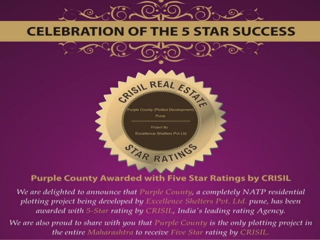 Invest in NA plots in Pune in CRISIL rated Purple County...call 8308816587