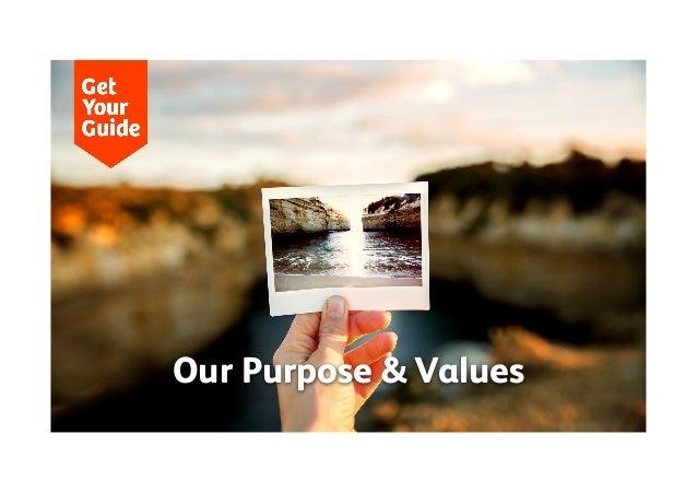 GYG purpose & values