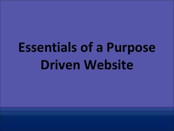 Purposeful website