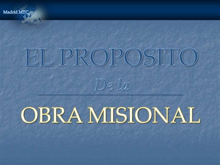 QUE ES NUESTRO PROPOSITO?Invitar a las personas a venir a Cristo alayudarlas a que reciban el Evangelio restauradomediante...