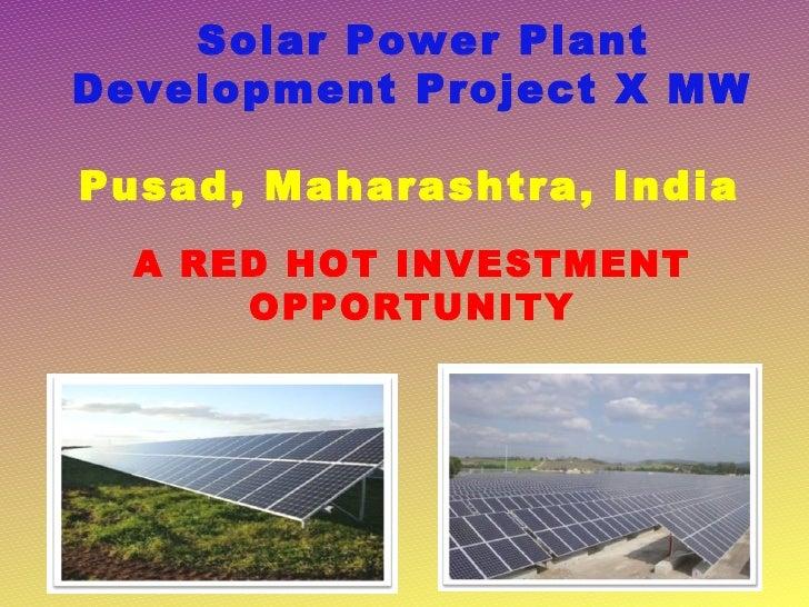 Pusad solar power plant presentation  (rev 7)