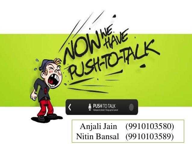 Anjali Jain (9910103580) Nitin Bansal (9910103589)