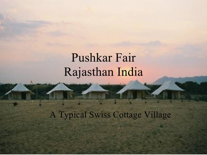Pushkar Fair Rajasthan India A Typical Swiss Cottage Village