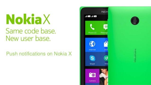 Push notifications on Nokia X