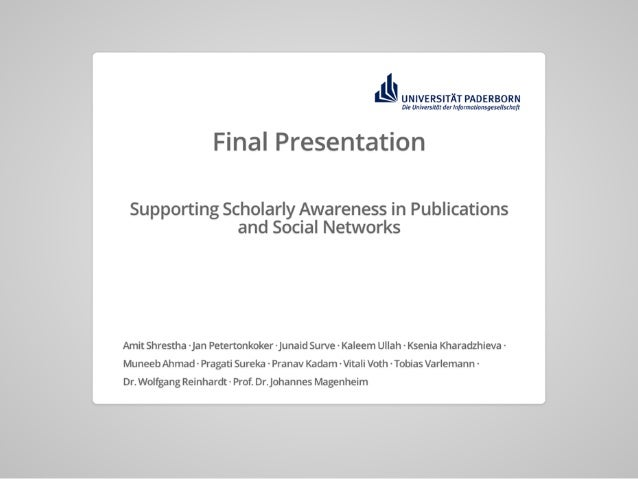 PUSHPIN: Supporting Scholarly Awareness in Publications and Social Networks