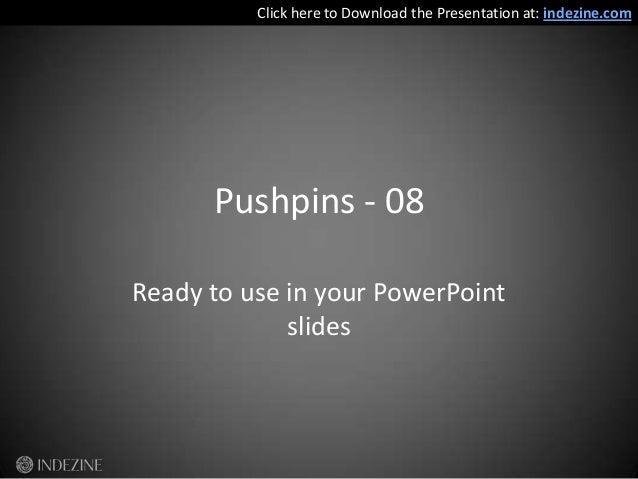 Handmade Slides: Pushpins for PowerPoint - 08