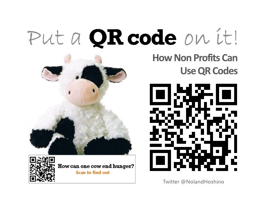 Ideas for QR codes in the Third sector