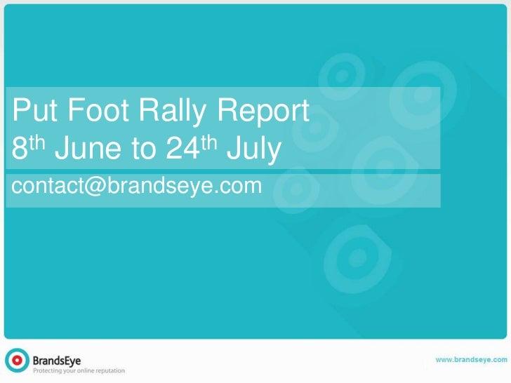 Put Foot Rally Full Report