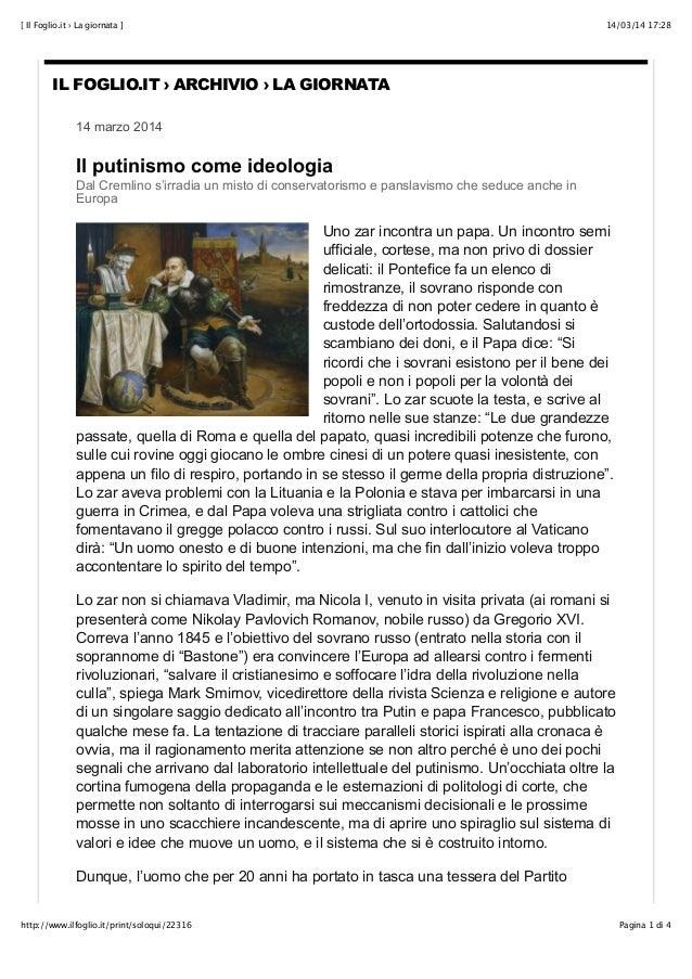14/03/14 17:28[ Il Foglio.it › La giornata ] Pagina 1 di 4http://www.ilfoglio.it/print/soloqui/22316 IL FOGLIO.IT › ARCHIV...