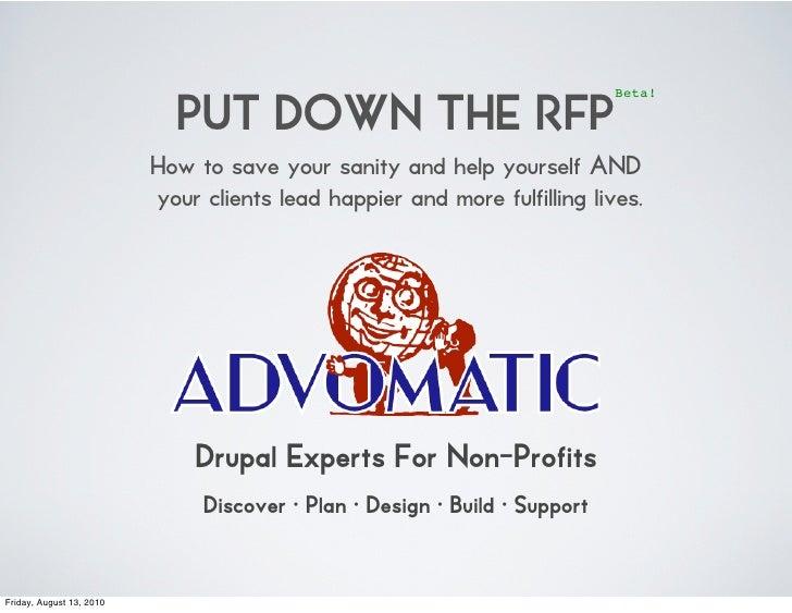 Put the RFP Down