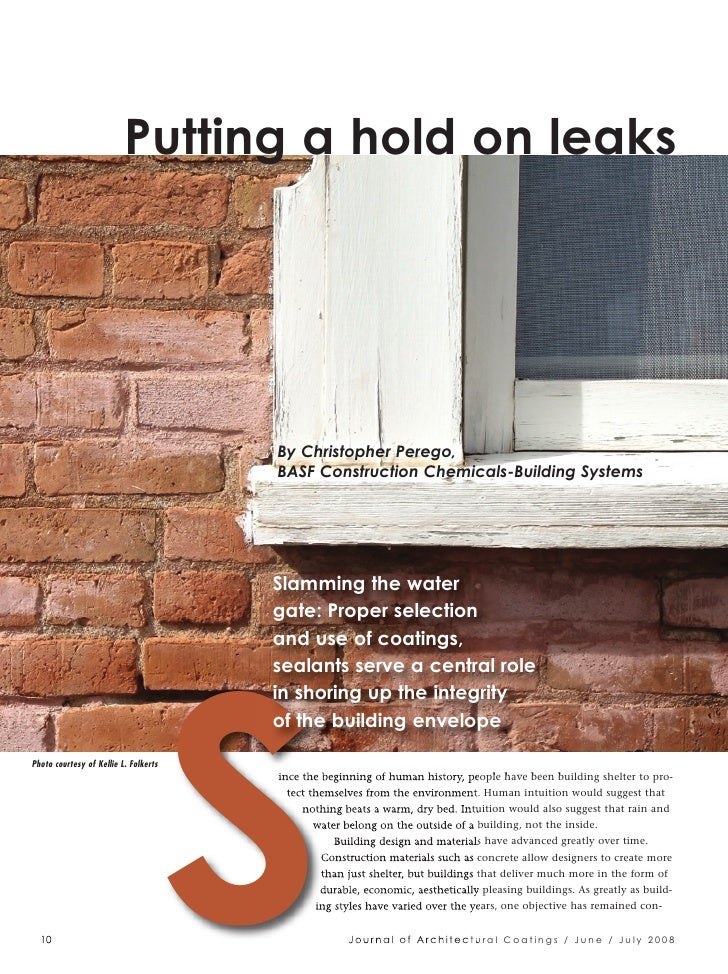 Putting a hold on leaks                                            S                                        By Christopher...