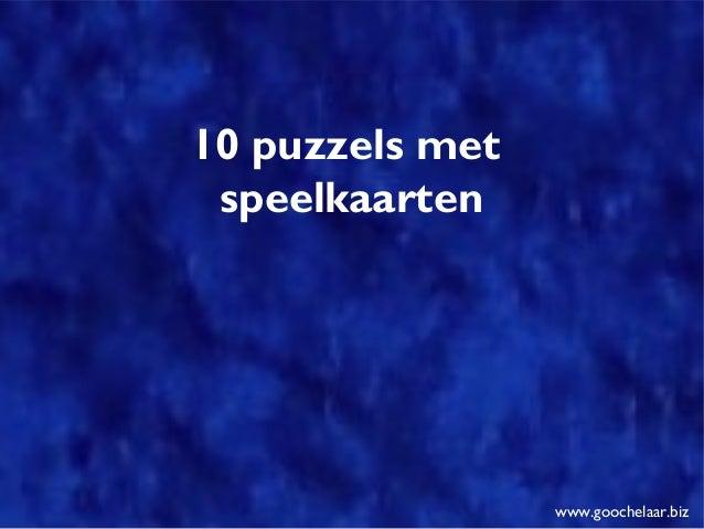 10 puzzels met speelkaarten www.goochelaar.biz