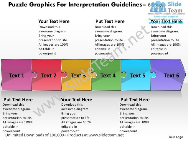 Puzzle Graphics For Interpretation Guidelines– 6 Stages                        Your Text Here                          Put...