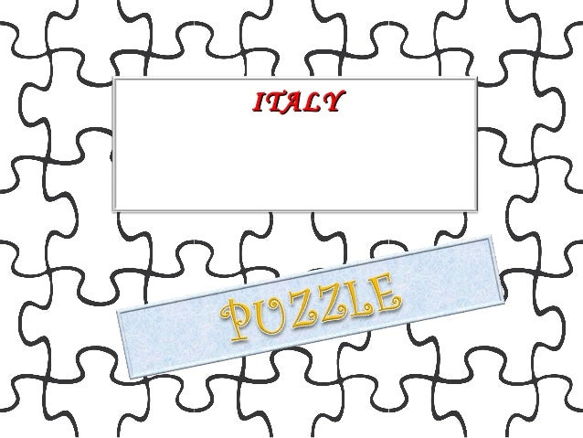 Puzzle Italy