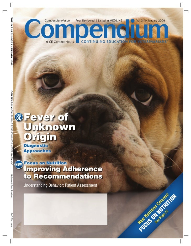 Compendium                    CompendiumVet.com | Peer Reviewed | Listed in MEDLINE   Vol 31(1) January 2009              ...