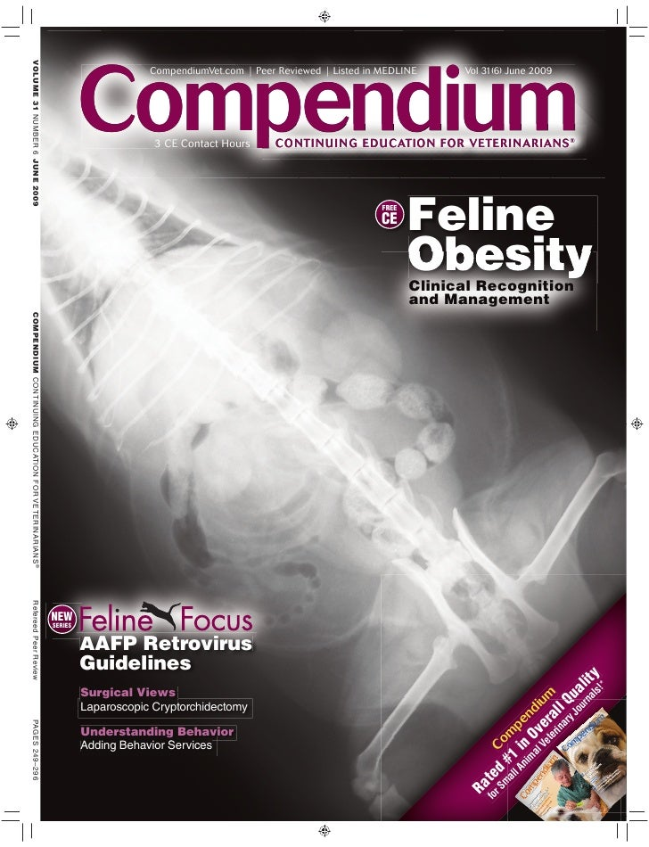 Compendium                      CompendiumVet.com | Peer Reviewed | Listed in MEDLINE      Vol 31(6) June 2009            ...