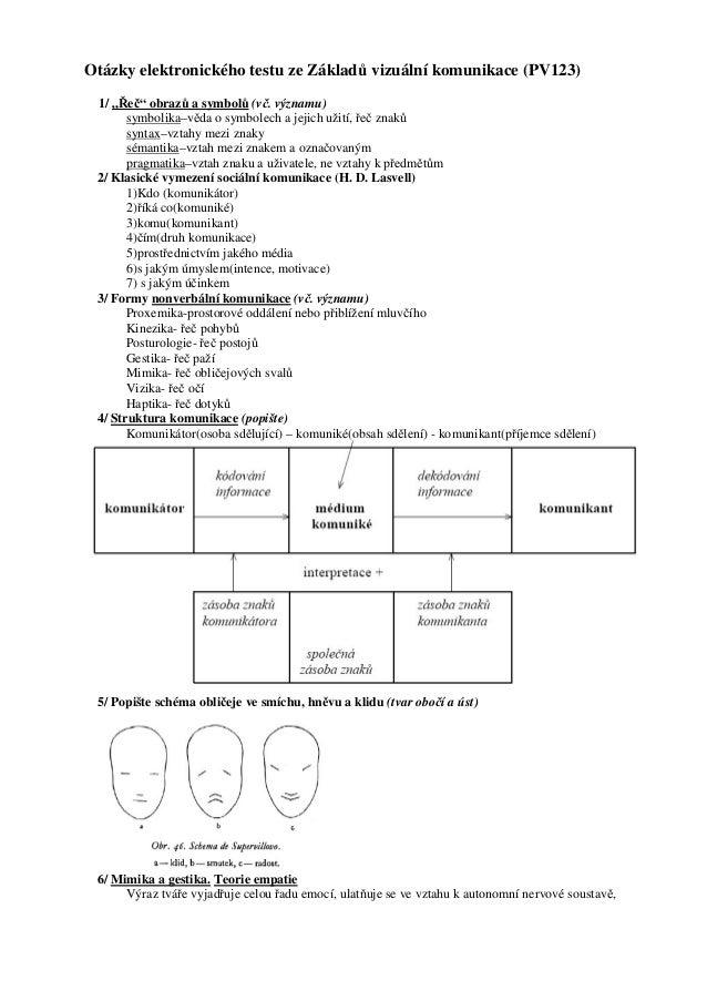 """Otázky elektronického testu ze Základů vizuální komunikace (PV123) 1/ """"Řeč"""" obrazů a symbolů (vč. významu)       symbolika..."""