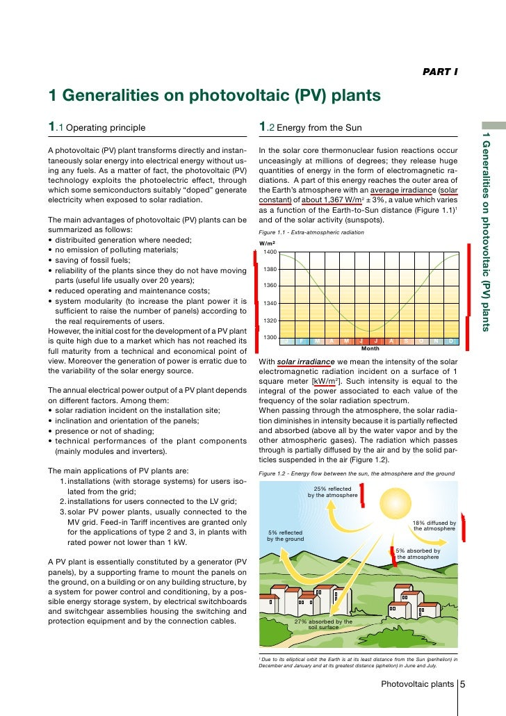 PART I1 Generalities on photovoltaic (PV) plants1.1Operating principle                                       1.2Energy f...