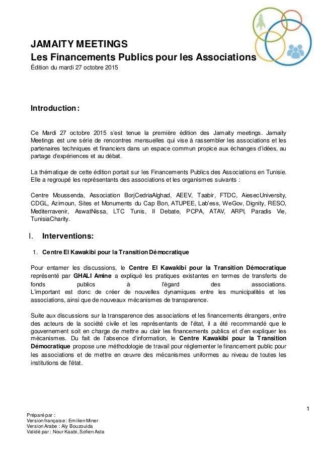 1 Préparé par : Version française : Emilien Miner Version Arabe : Aly Bouzouida Validé par : Nour Kaabi, Sofien Asta JAMAI...
