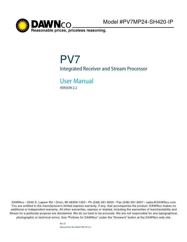 Pv7 mp24 sh420-ip