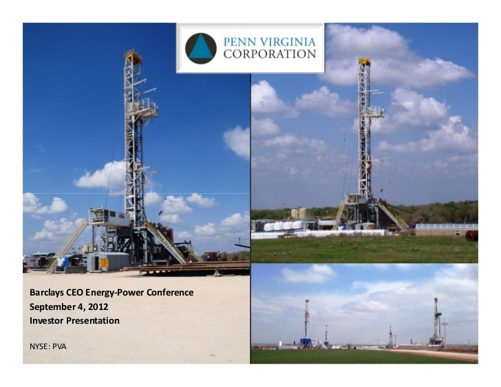 Barclays CEO Energy‐Power ConferenceSeptember 4, 2012Investor PresentationNYSE: PVA
