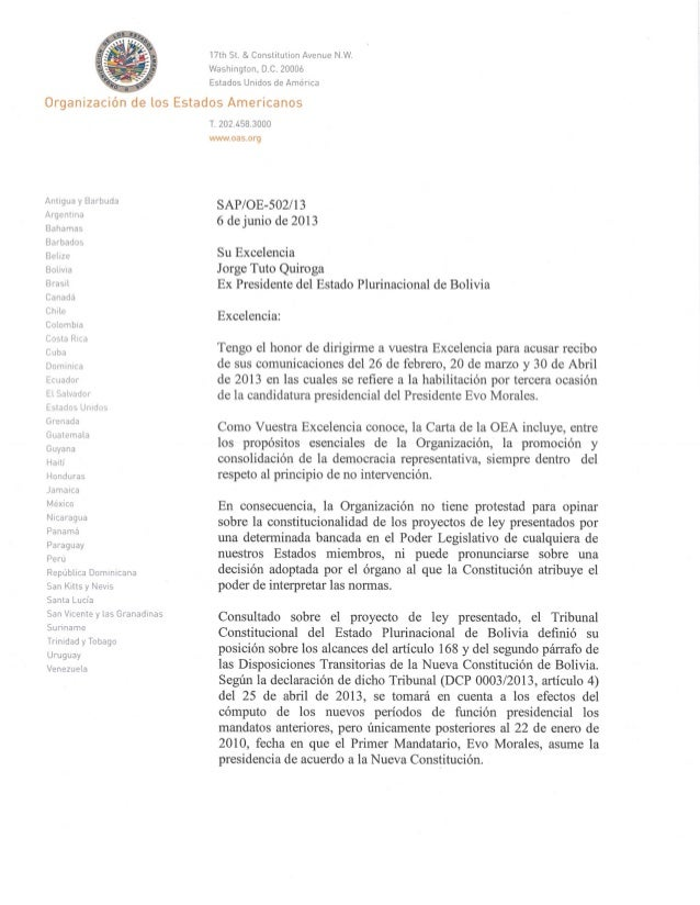 PVB-IEP (Política Internacional) OEA a Jorge Tuto Quiroga