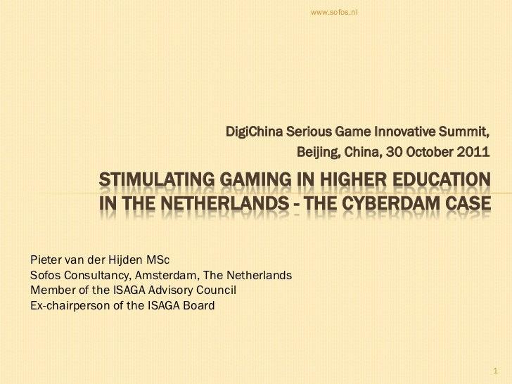 www.sofos.nl                                 DigiChina Serious Game Innovative Summit,                                    ...