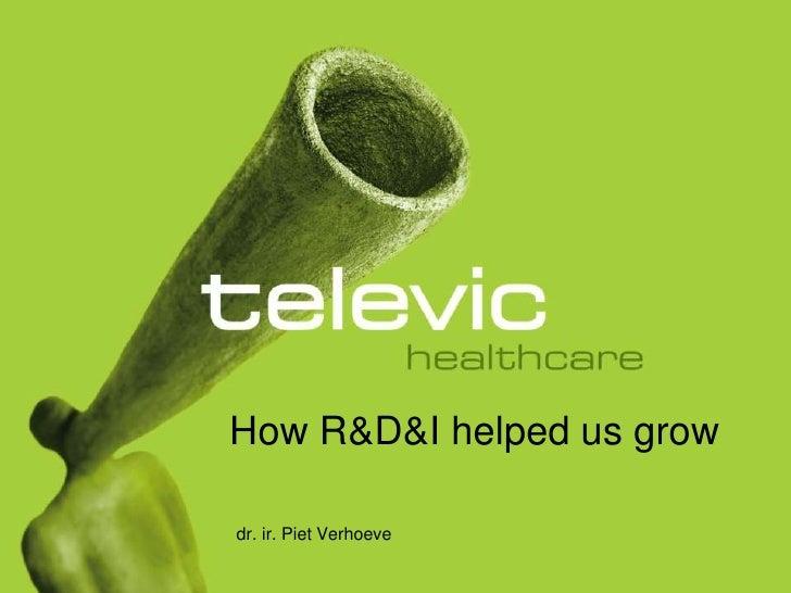 How R&D&I helpedusgrow<br />dr. ir. Piet Verhoeve<br />