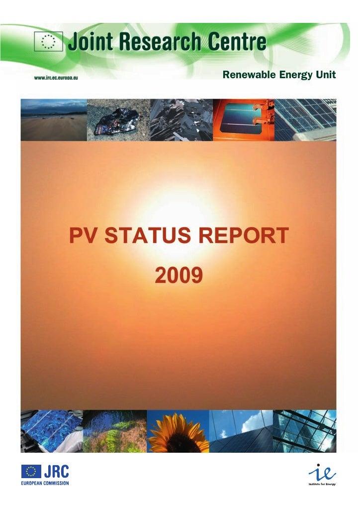 Pv industry status report 2009