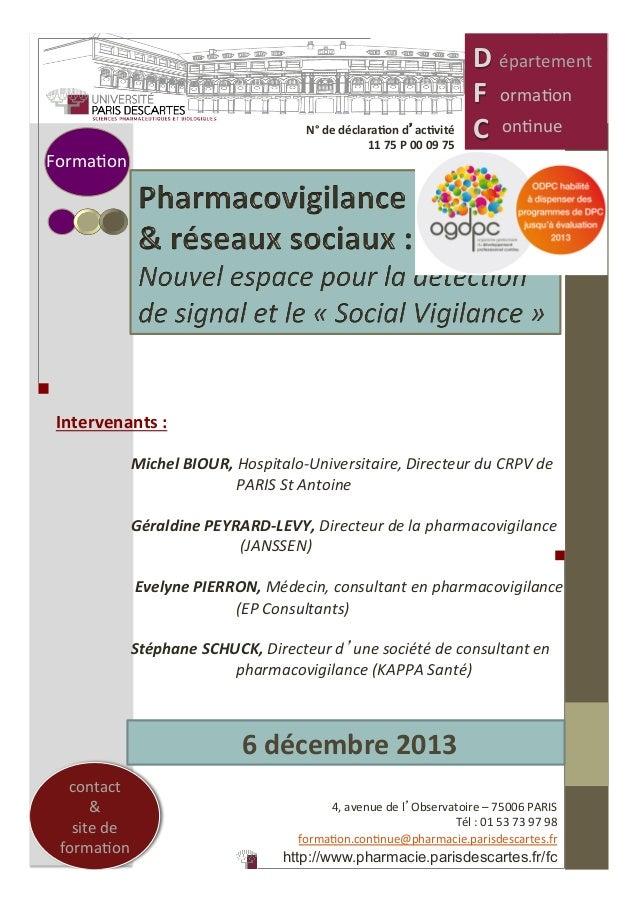 6  décembre  2013   Intervenants  :        Michel  BIOUR,  Hospitalo-‐Universitaire,  Directeur  d...