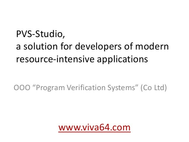 PVS-Studio 5.00, a solution for developers of modern resource-intensive applications