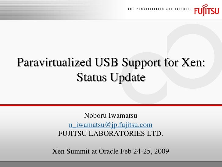 XS Oracle 2009 PV USB