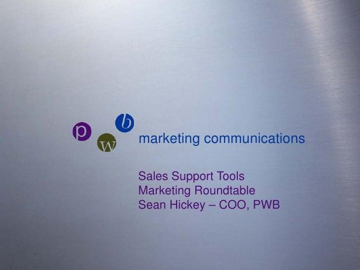 October 2010 - Marketing Roundtable - Sean Hickey