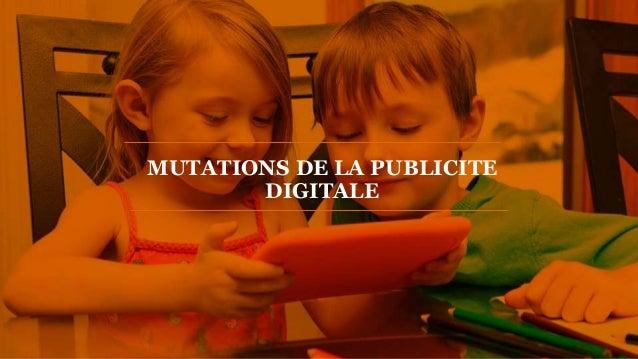 PwC  MUTATIONS DE LA PUBLICITE  DIGITALE
