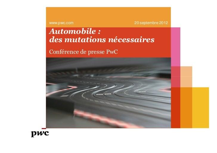 www.pwc.com   20 septembre 2012