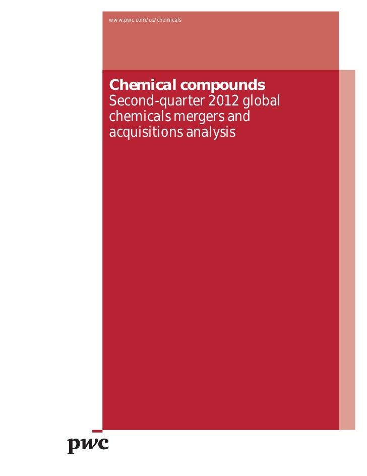 Chemical compounds, fusions-acquistions dans le secteur de la chimie T2 2012