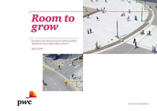 Etude PwC sur l'hôtellerie européenne (2014)