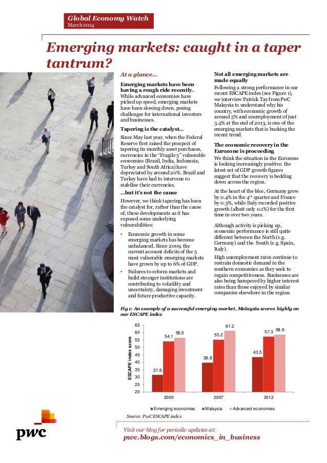 PwC Global Economy Watch (février 2014)