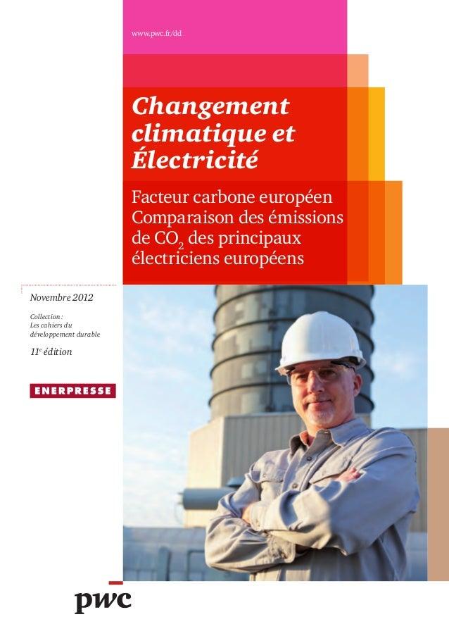 www.pwc.fr/dd                        Changement                        climatique et                        Électricité   ...